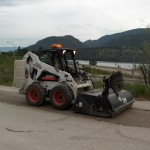 Bobcat Street Sweeper with Water-Kit