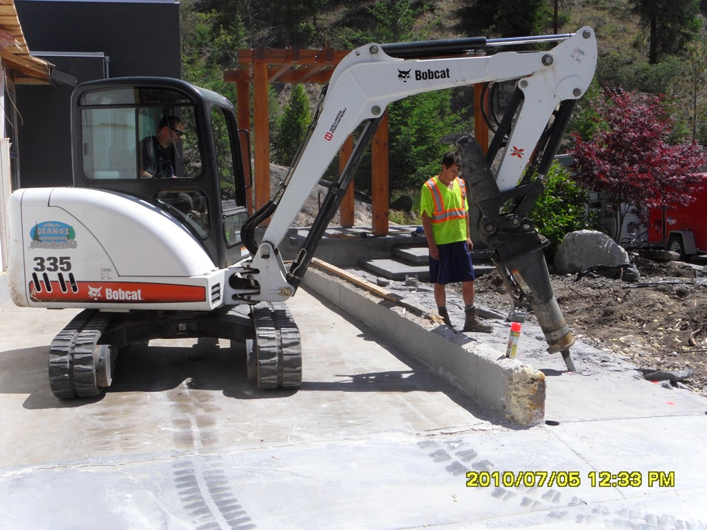 Mini-Excavator Power Breaker